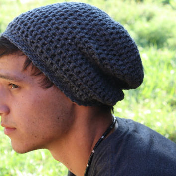 Crochet Slouchy Beanie Mens Only New Crochet Patterns