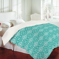 DENY Designs Home Accessories | Lisa Argyropoulos Diamonds Are Forever Aquatic Duvet Cover