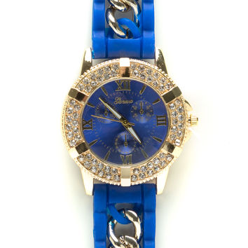 Chain Of Command Jeweled Trim Watch