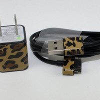 Cheetah Print iPhone Charger