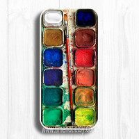 iphone 5 case--Watercolor iphone 5 case,Watercolor painting Box, palette Design iPhone 5 case, iphone 5 hard case,iphone case