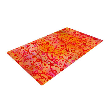 "Ebi Emporium ""Make A Wish"" Orange Red Woven Area Rug"