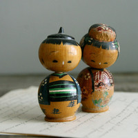 kokeshi set no 6 by everyeskimo on Etsy