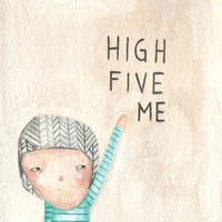 print high five me by prettylittlethieves on Etsy