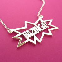 Sterling silver Bazinga Pendant by starbrightsilver on Etsy