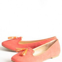 afternoon lounging loafers in coral at ShopRuche.com