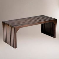 Alexander Slat Table Bench | World Market