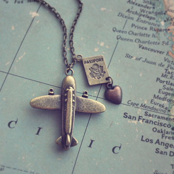wanderlust necklace by bellehibou on Etsy