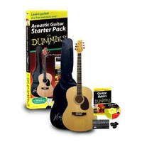 Guitar For Dummies Acoustic Guitar Starter Pack (Guitar, Book, Audio CD, Gig Bag): Musical Instruments
