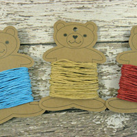 30 Yard Sampler Paper Twine on a bear twine spool