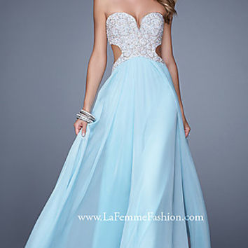Strapless La Femme Dress with Open Back