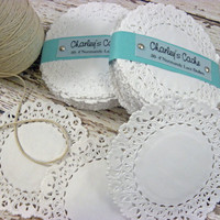 "NEW Doilies 4"" Normandy French Lace paper White Doilys Qty 50"