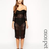 ASOS Petite | ASOS PETITE Exclusive Lace Off The Shoulder Dress at ASOS