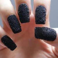 DIY Caviar Nail Beads, Home Manicure - Black or Silver - Choose With Color You Want, Halloween Witch Nails