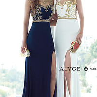 Illusion Sweetheart Formal Dress by Alyce