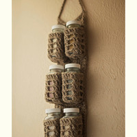 Rustic Hanging Spice Rack (ready to ship)