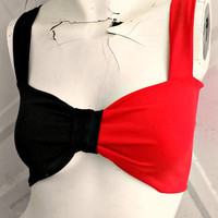 The Harleen Comic Book BOW Bandeau Top with straps