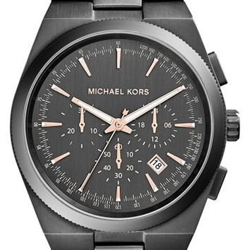 Men's Michael Kors 'Channing' Chronograph Bracelet Watch, 43mm - Gunmetal