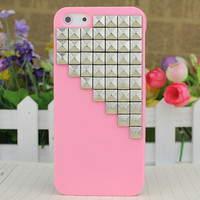 Light Pink Hard Case Cover With Silvery Stud for Apple iPhone5 Case, iPhone 5 Cover,iPhone 5s Case, iPhone 5gs