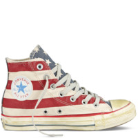 Converse - Chuck Taylor Distressed Flag - Hi - White/Navy/Red