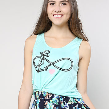 Lacy Back Anchor Crop Top