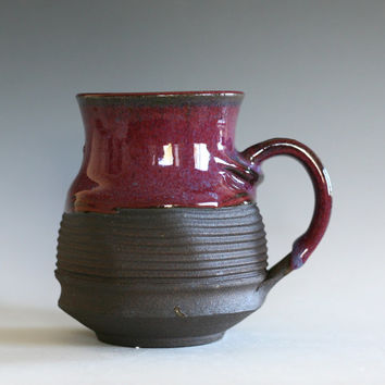 Purple Coffee Mug, 17 oz, handmade ceramic cup, tea cup, coffee cup, handthrown ceramic stoneware pottery mug, unique coffee mug