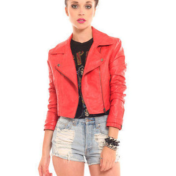 GYPSY WARRIOR - Motorcycle Jacket - Coral