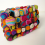 Swirly Pop yummi Purse unique beautiful yellow fun colorful clutch purse