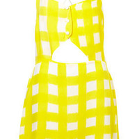 Yellow Check Cut Out Cover Up - New In This Week  - New In