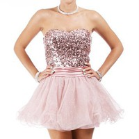Payton-Pink Homecoming Dress