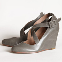 Chelsea Crew Janice wedges in gray - $64.99 : ShopRuche.com, Vintage Inspired Clothing, Affordable Clothes, Eco friendly Fashion
