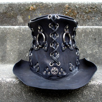 Jack The Ripper Leather Top Hat