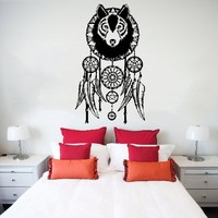 Wall Decals Dreamcatcher Dream Catcher Feathers Night Symbol Decoration Wall Vinyl Decal Stickers Bedroom Murals