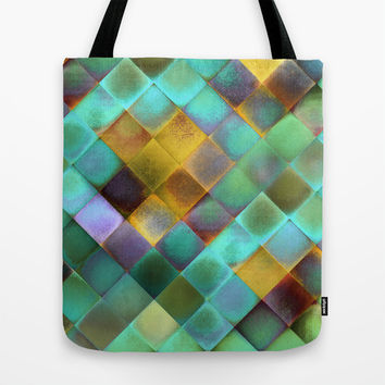 CHECKED DESIGN II-v11 Tote Bag by Pia Schneider [atelier COLOUR-VISION]