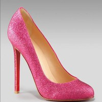 Christian Louboutin Glitter Pump - $185.00 : Designer Shoes Online,Wholesale Designer Shoes,Designer Discount Shoes