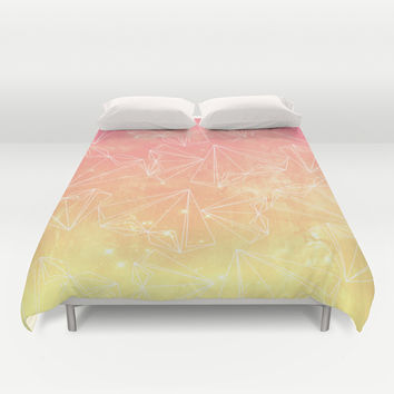 A heart is made of ... wishes Duvet Cover by VessDSign