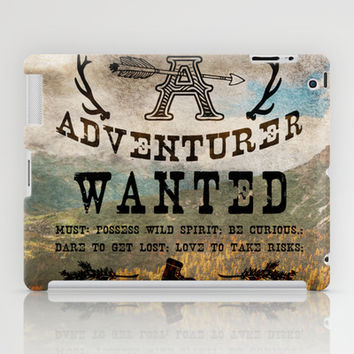 Adventurer Wanted iPad Case by Diogo Verissimo