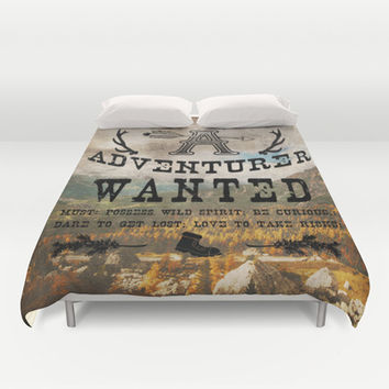 Adventurer Wanted Duvet Cover by Diogo Verissimo