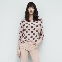 Pure Silk Crêpe de Chine Printed Blouse