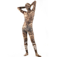 Halloween Full Body Fancy Dress Lycra Spandex Zentai Suits Brown Cosplay Costumes [L20120822] - 24.58 : Zentai, Sexy Lingerie, Zentai Suit, Chemise