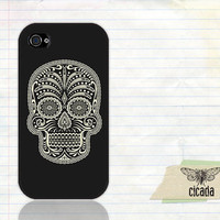 iPhone 4 Case - Sugar Skull iPhone 4S Cover (0034)