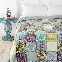 Magical Thinking Bali Patchwork Quilt- Blue Multi Full/queen