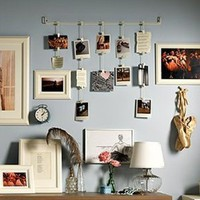 Amazon.com: Ikea Fiskevik Picture Holder Frame Hang up to 15 Photos: Home &amp; Kitchen