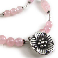 SAKURA Sterling Silver And Rose Qua.. on Luulla
