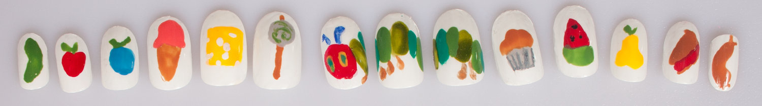 Very Hungry Caterpillar False Nail Set
