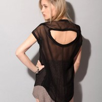 Black silk sheer top [Fun2944] - &amp;#36;85 : Pixie Market, Fashion-Super-Market