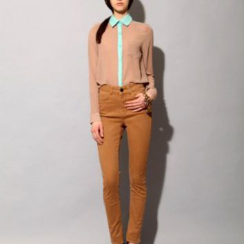 Tan and teal lace shirt SOLD OUT [Fea2966] - $89 : Pixie Market, Fashion-Super-Market