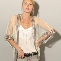 Sheer beaded cardigan [Moo4911] - &amp;#36;62 : Pixie Market, Fashion-Super-Market