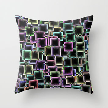 Boxey Throw Pillow by Alice Gosling