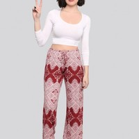 Recover Lounge Pants - Crimson